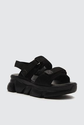 TRENDYOLMİLLA Siyah Kadın Sandalet TAKSS21SD0024 3