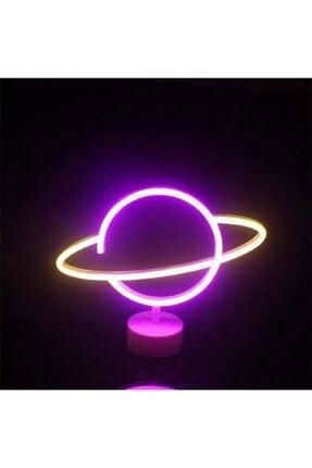 SARFEX Neon Gezegen Şekilli Led Işıklı Dekoratif Gece Lambası 0