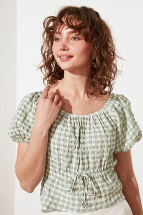 TRENDYOLMİLLA Mint Petite Bağlama Detaylı Bluz TWOSS21BZ1526 3