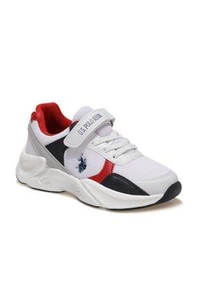 US Polo Assn PEJA Beyaz Erkek Çocuk Koşu Ayakkabısı 100601585 0