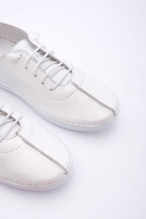 Marjin Kadın Beyaz Hakiki Deri Günlük Comfort Ayakkabı Edor 4