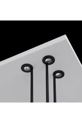 Kenzlife Larose Zigon Sehpa Ayağı Maşuk Siyah 3 Lü 50 Cm Yükseklik Metal Ayak Firkete Masa 0