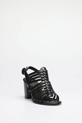 ALTINAYAK Kadın Siyah Çok Bant Topuklu Sandalet 2