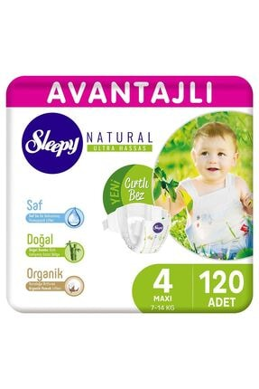 Sleepy Natural Avantajlı Bebek Bezi 4 Numara Maxi 120 Adet 0