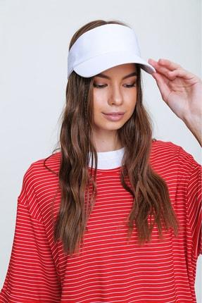 Trend Alaçatı Stili Kadın Beyaz Tenis Şapkası ALC-A2197 0