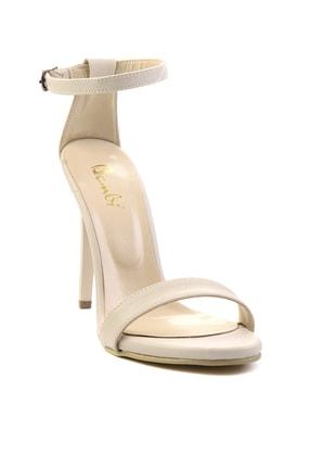 Bambi Bej Kadın Abiye Ayakkabı K01527007909 2