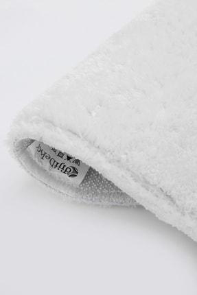 Dijidekor Beyaz Oval Post Dokuma Halı Peluş Yumuşacık Kaymaz Antibakteriyel 120x180 2