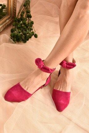 Fox Shoes Fuşya Süet Kadın Babet H726761502 0