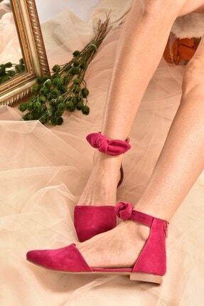 Fox Shoes Fuşya Süet Kadın Babet H726761502 1
