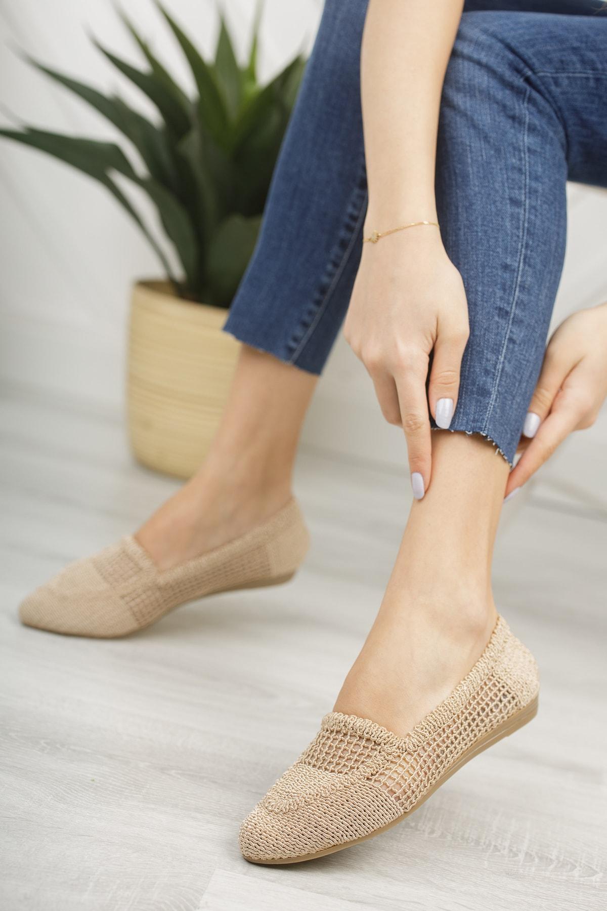 Ten Dantelli Kadın Dantelli Günlük Ayakkabı Md1068-111-0001