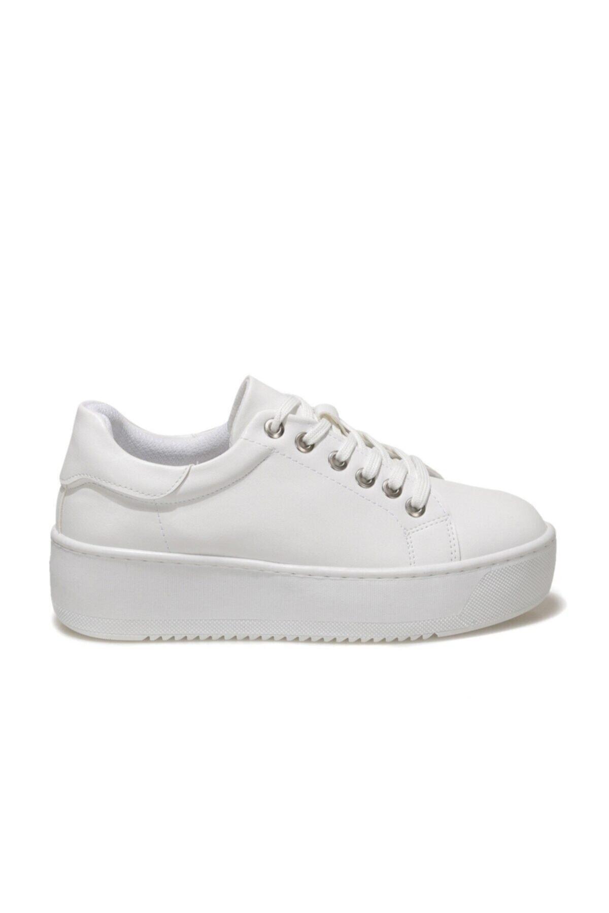 21S-4011FX Beyaz Kadın Havuz Taban Sneaker 101014496