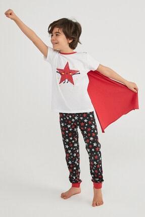 Penti Erkek Çocuk Çok Renkli Boys Stars Ss Pijama Takımı 2li 0