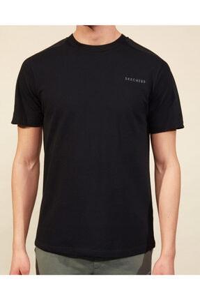 Skechers Graphic Tee M Crew Neck T-Shirt Erkek Siyah Tshirt 3