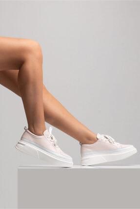 GRADA Pudra Rengi Kalın Tabanlı Hakiki Deri  Sneaker Ayakkabı 0