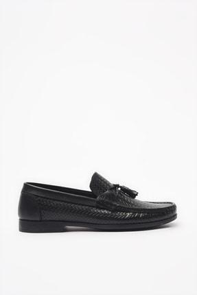 Hotiç Hakiki Deri Siyah Loafer Ayakkabı 02AYH206160A100 0