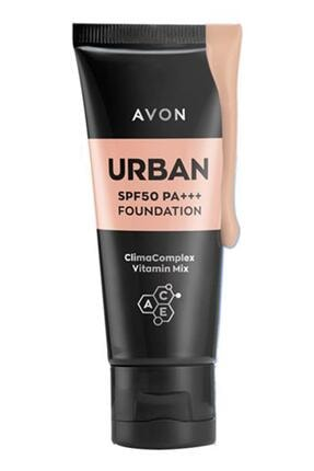 Avon Urban Foundation Spf50 Pa+++ 30 ml. Light Medium 0