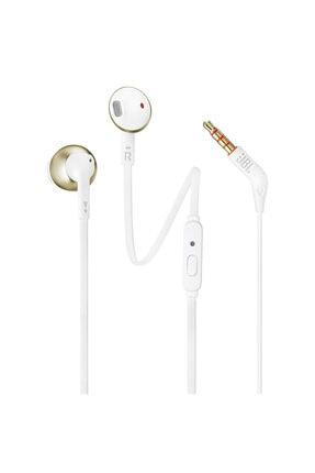 JBL T205 Beyaz Altın Kablolu Kulak İçi Kulaklık 0