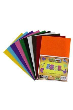 nova color Renkli Keçe 10 Renk 20x30 Cm K.e 0