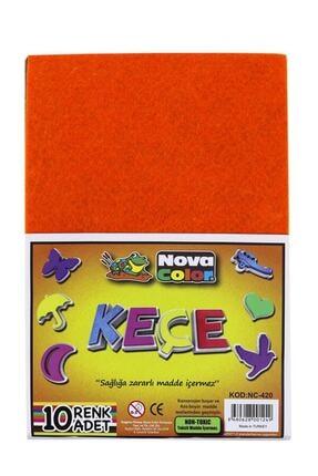 nova color Renkli Keçe 10 Renk 20x30 Cm K.e 1