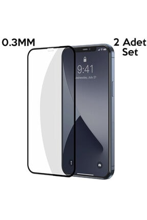 Baseus Iphone 12-12 Pro Uyumlu  6.1 0.3mm 3d Full Tempered Cam Ekran Koruyucu 2adet Set 0