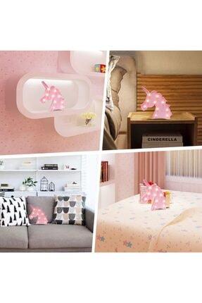 Lumenn Unicorn Pembe 3d Led Işıklı Gece Lambası-çocuk Bebek Odası Dekoratif Masa Led Aydınlatma 2