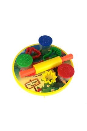 Play Dough 8 Parça Sofralı Merdaneli Kalıplı Oyun Hamuru Seti 2