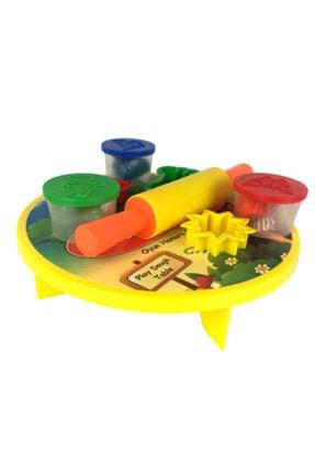 Play Dough 8 Parça Sofralı Merdaneli Kalıplı Oyun Hamuru Seti 3