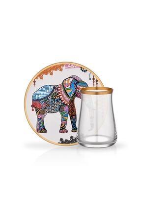 Glore Tarabya Elephant 6'lı Çay Seti 0