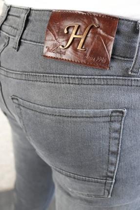 HLT JEANS Erkek Gri Lycralı Gri Slim Fit Pantolon 4