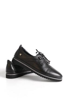 Marjin Kadın Siyah Hakiki Deri Comfort Ayakkabı Demas 1