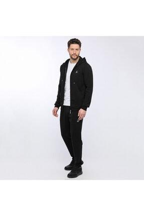 Kinetix BASIC HOODIE FULL ZIP Siyah Erkek Eşofman 100928585 3