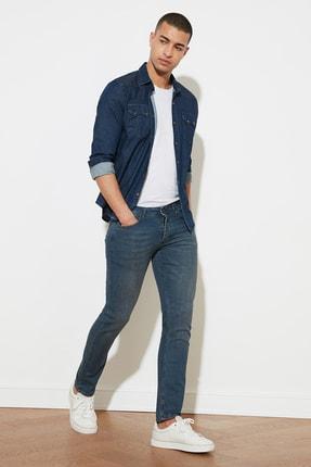 TRENDYOL MAN Indigo Erkek Denim Skinny Jeans TMNAW20JE0407 0