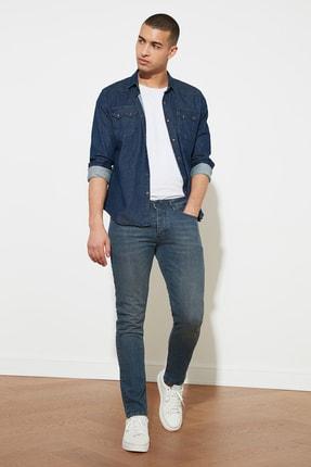 TRENDYOL MAN Indigo Erkek Denim Skinny Jeans TMNAW20JE0407 1