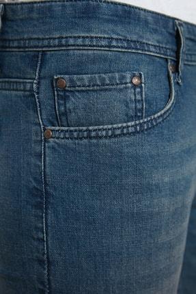 TRENDYOL MAN Indigo Erkek Denim Skinny Jeans TMNAW20JE0407 4