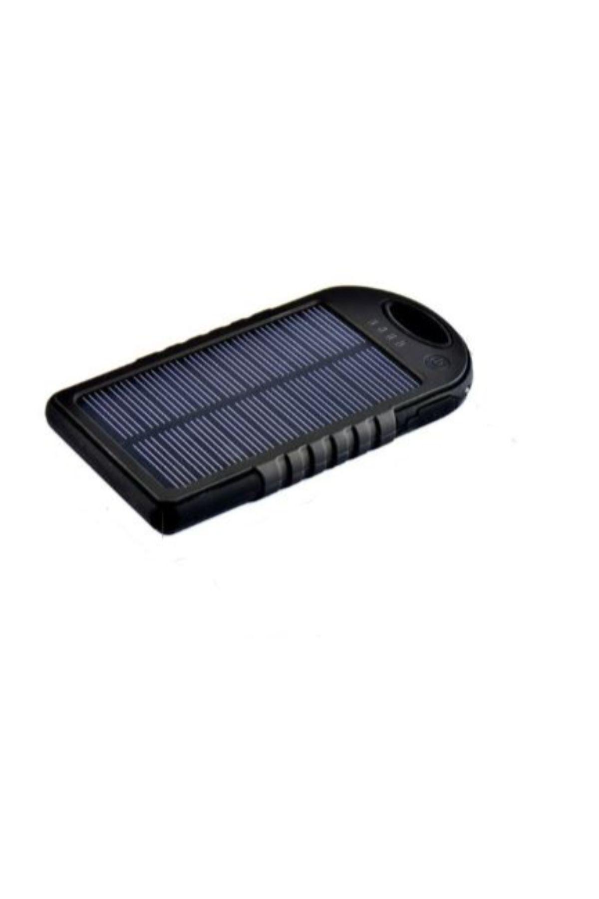 Solar Güneş Enerjili Powerbank 15000 Mah Şarj Aleti Led Işıklı