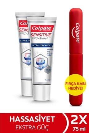 Colgate Hassasiyete Pro Çözüm Ekstra Güç Ekstra Koruma Diş Macunu 75 ml X 2 Adet Fırça Kabı Hediye 0