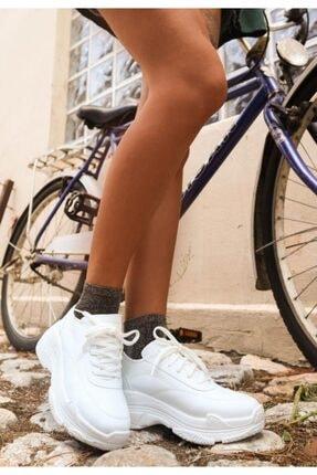 Erbilden Jare Beyaz Cilt Spor Ayakkabı 1