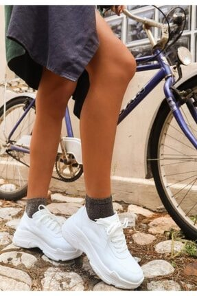 Erbilden Jare Beyaz Cilt Spor Ayakkabı 2