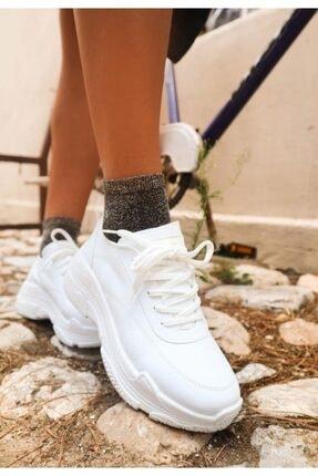 Erbilden Jare Beyaz Cilt Spor Ayakkabı 4