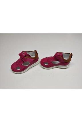 Vicco Kız Çoçuk Fuşya İlk Adım Deri Ayakkabısı Sandalet 0