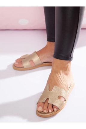ayakkabıhavuzu Kadın Gold Terlik 1