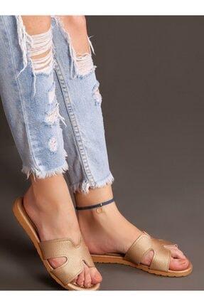 ayakkabıhavuzu Kadın Gold Terlik 3