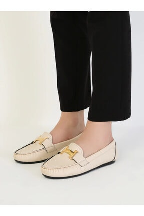 ayakkabıhavuzu Kadın Krem Günlük Ayakkabı 2