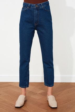 TRENDYOLMİLLA Indigo Yüksek Bel Mom Jeans TWOAW20JE0129 3