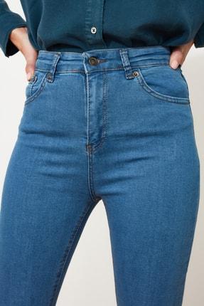 TRENDYOLMİLLA Mavi Yüksek Bel Skinny Jeans TWOSS20JE0301 2