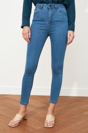 TRENDYOLMİLLA Mavi Yüksek Bel Skinny Jeans TWOSS20JE0301 3