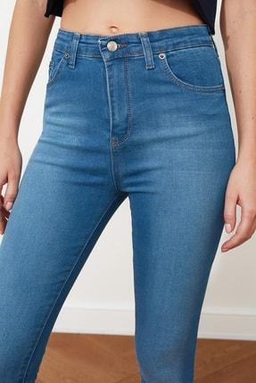 TRENDYOLMİLLA Mavi Yüksek Bel Skinny Jeans TWOSS20JE0302 2