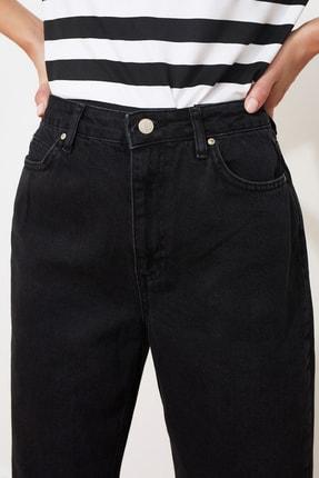 TRENDYOLMİLLA Antrasit Yüksek Bel Boyfriend Jeans TWOAW21JE0106 2