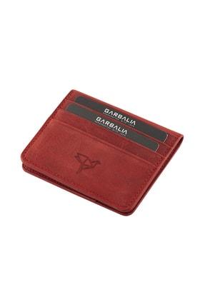 Picture of %100 El Yapımı Vintage Deri Kırmızı Erkek Kartlık Cüzdan
