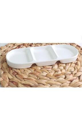 ACAR Bone Porselen 26x10 Cm 2'li Kahvaltılık-çerezlik 10339 0
